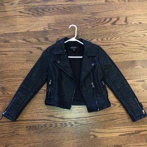 Top Shop petite black leather jacket